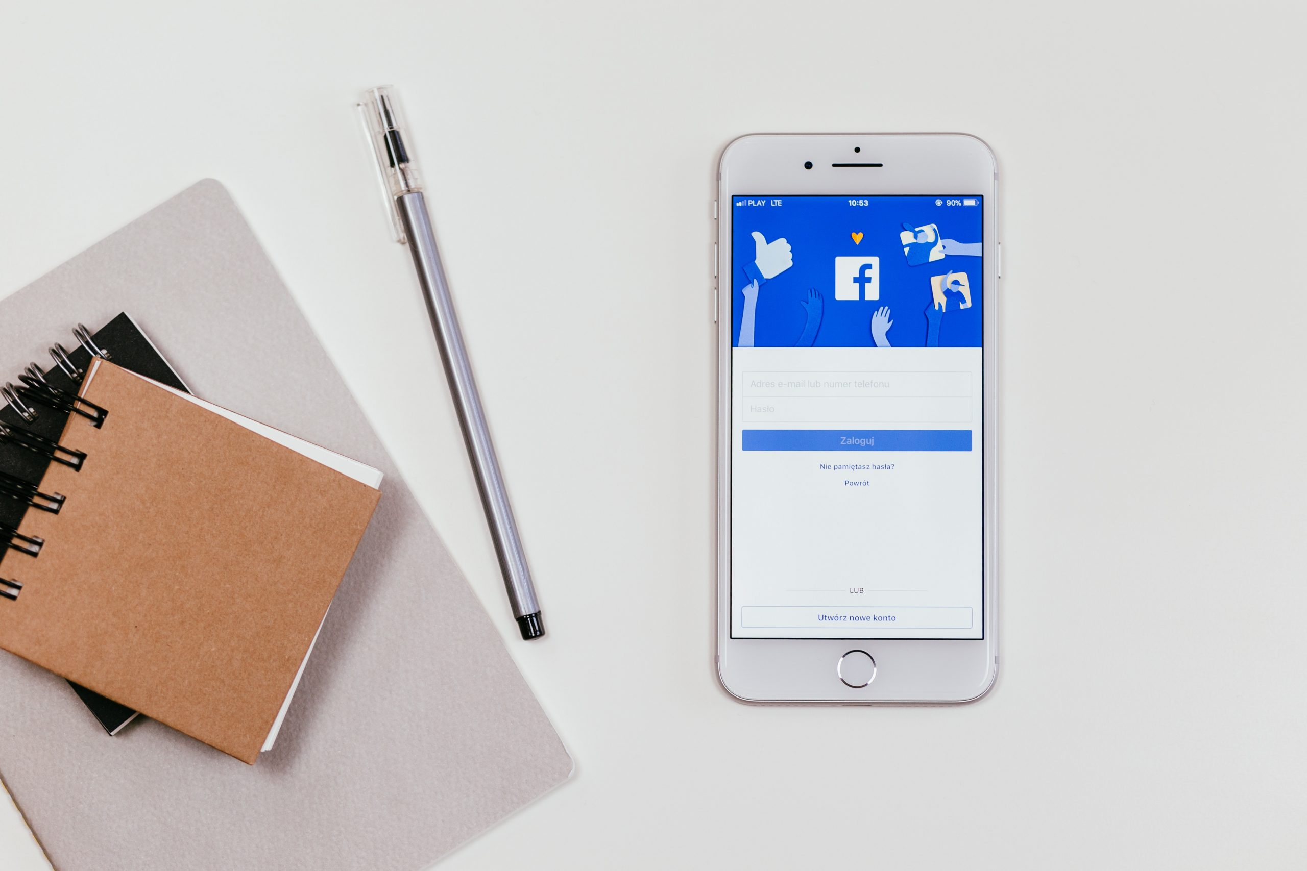Facebook login page on iphone - pay-per-click advertising
